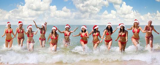 【蜗牛娱乐】性感红色圣诞女郎 美女圣诞装前凸后翘令人好性福
