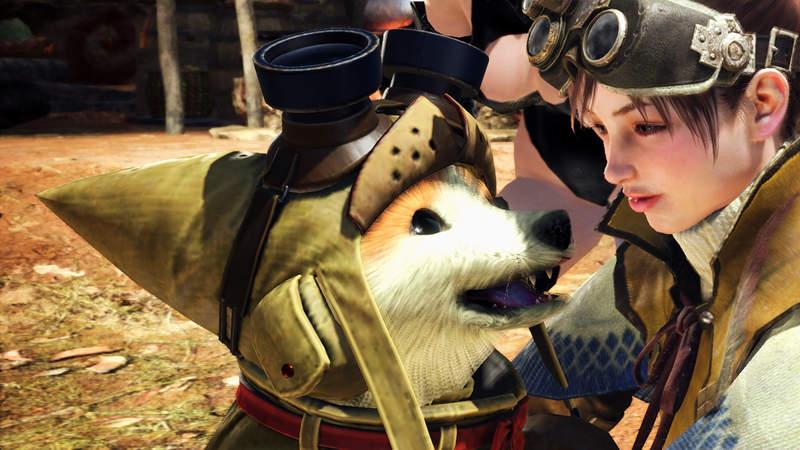 """【蜗牛娱乐】《魔物猎人世界》玩家自制""""艾路狗""""MOD模组 柴犬呆萌表情太可爱了"""