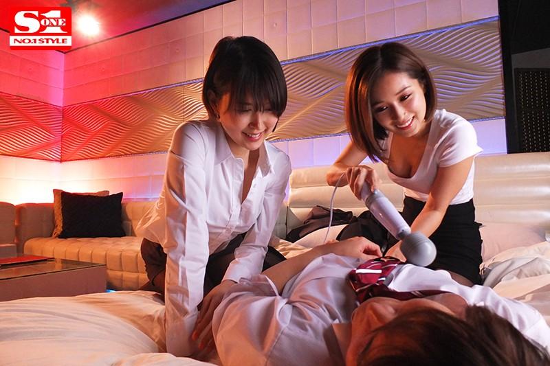 【蜗牛娱乐】SSNI-879 :被痴女上司小岛南&葵司捡尸轮流骑上去逆轮姦!
